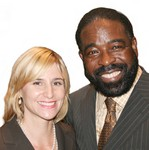 Amy Sellers & Les Brown  preparing for BAAM BLAST Event March 24, 2007