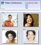 Four-Party Video Conference