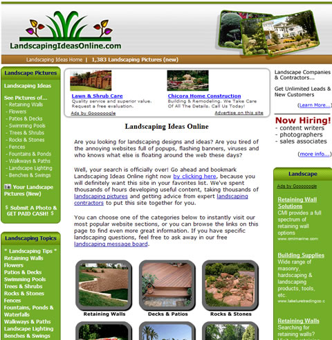 Unique New Landscaping Website Provides Inspiration For