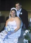 Tim and Lisa on their wedding day