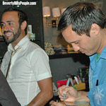 Project Runway Season Two stars Nic Verreos and Andrae Gonzalo sign DVD's at West Hollywood's Alpha Male