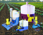 Chemigation equipment, such as these from Agri-Inject, has helped farmers with more accurate placement of chemicals.