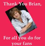 Fans Thank Brian Douglas
