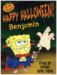 SpongeBob SquarePants Halloween card from Cards4Kids.com