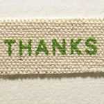A detail of a handmade thank you note, courtesy of Ess & Jae.