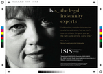 Isis underwriter Helen Poyner in one of the Isis launch campaign ads created by Simon Middleton Company