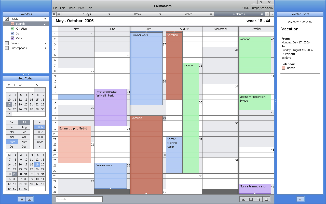 Introducing Calimanjaro - A New Calendar Software Delivering the ...