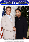 California Governor Arnold Schwarzenegger with Hollywood.TV Founder Sheeraz Hasan