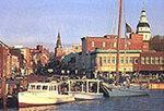 Main Street city docks Annapolis MD