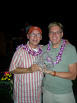 Thomas Alan Berg and Michael Brewer win the Audience Choice Award at the Aloha Spirt Film Festival, September 17, 2006.