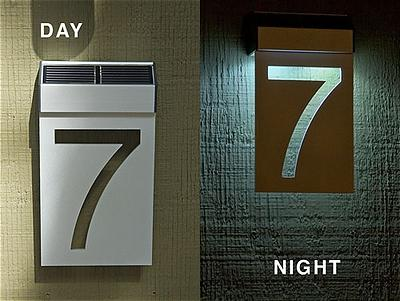 solar powered house numbers. Solar LED House Number