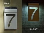 Solar LED House Number