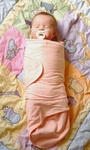 A modern version of the ancient technique of swaddling. The Miracle Blanket makes the wrap fool-proof so baby sleeps peacefully.