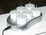 Easy charging base with Tea Lights