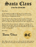 Santa Claus Letter from the North Pole