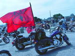 Motorcycle Displays KIA Flag
