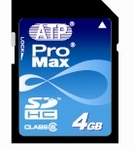 Class 6 ProMax SDHC 4GB Card by ATP
