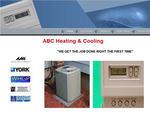 Sample Website Design for a Heating & Cooling HVAC Contractor