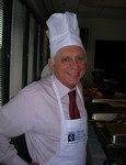 Jerry Lewin is proud to serve his staff as chef for a day.