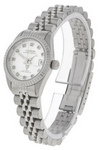 Croton Womens Silver Dial Crystal Dress Watch