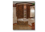 Stone adds the richness of a spa to a home bathroom