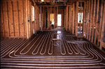 Radiant floor heating installation.