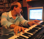 Internationally renowned composer and Apogee Artist in Residence, Anton Brejestovski.