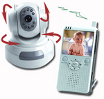New Baby Video Monitor remotely pans & tilts...It delivers full audio too.