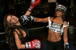 Ivy Supersonic & Kitty at Trinity Boxing Club Owned by Martin Snow - Located at 110 Greenwich St., NYC. Boxing Gloves Hand Painted by Dems. VICTORY hat designed by Fresh Karma.