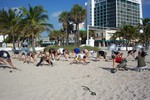Col. Weinstein Training on Fort Lauderdale Beach