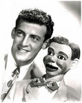 Paul Winchell with his dummy, Jerry Mahoney