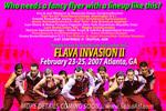Flava Invasion Flyer