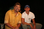 GAC's Storme Warren (Left) with country music star Kenny Chesney, one of the participating artists in GAC's great songwriting experience.