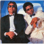 Sonny and Crockett on the Original Chris Craft Miami Vice Boat.