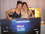 Allison Iraheta and 50,000.00 check