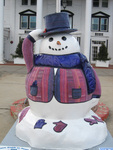 One of 17 Snow People on Parade December 2nd in Conway, NH