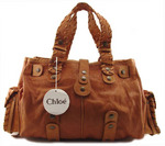 CHLOE designer handbag large silverado satchel
