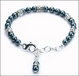 Tahitian Pearl and Crystal Pet Necklace