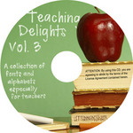 Teaching Delights Vol. 3 includes 30 alphabets and 20 fonts that teachers can use to draw students' attention.