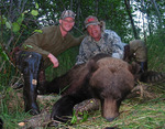 Mike Moore and Rocky with Huge Grizzly