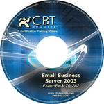 Small Business Server 2003 training videos are now available from CBT Nuggets.