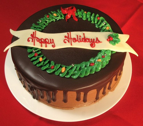 Chocolate Christmas Cake Decorating Ideas : Last Minute Overnight Gourmet Christmas Cookies and Cakes