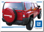 Painted Hummer H3 Rigid Tire Cover