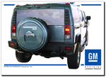 Painted Hummer H2 Rigid Tire Cover