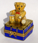 christmas teddy on gift  box