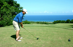 Colby Cowan at the tee - Jamaica  Invitational Pro-Am Winner