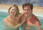 Tom and Mary Clare Mulhall owners of The Terra Cotta Inn Clothing Optional Resort in Palm Springs, CA