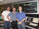 Gus Malliarodakis, Michael Turcotte and Samuel Turcotte at Armed Forces Network Studios