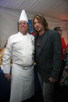 "Chef Christian ""Kit"" Kiefer backstage with Billy Ray Cyrus"