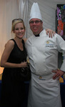 "Chef Christian ""Kit"" Kiefer backstage with The Dixie Chicks' Martie Maguire"